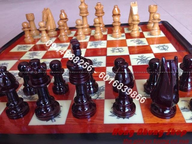 bộ bàn cờ vua bằng gỗ đẹp
