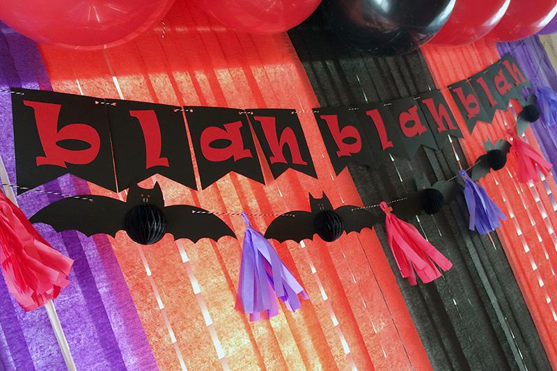 Aly dosdall hotel transylvania 2 party decor for Hotel decor suppliers