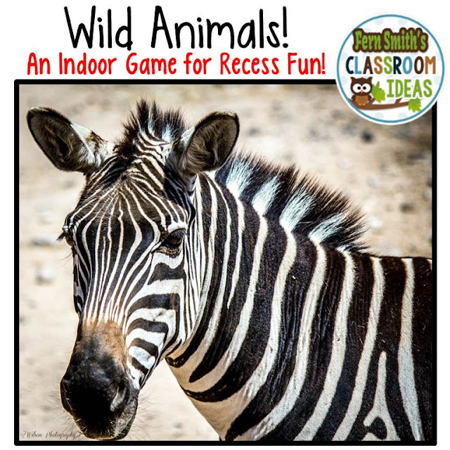 Fern Smith's Classroom Ideas - Indoor Recess Activity - Wild Animal Free Printable Downloads to Help You in Your Classroom develop an Indoor Recess Binder! FREE!
