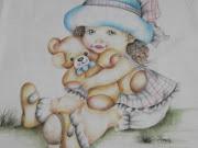 Pintura em Fralda. Postado por Eneri Arte com Carinho às 22:20