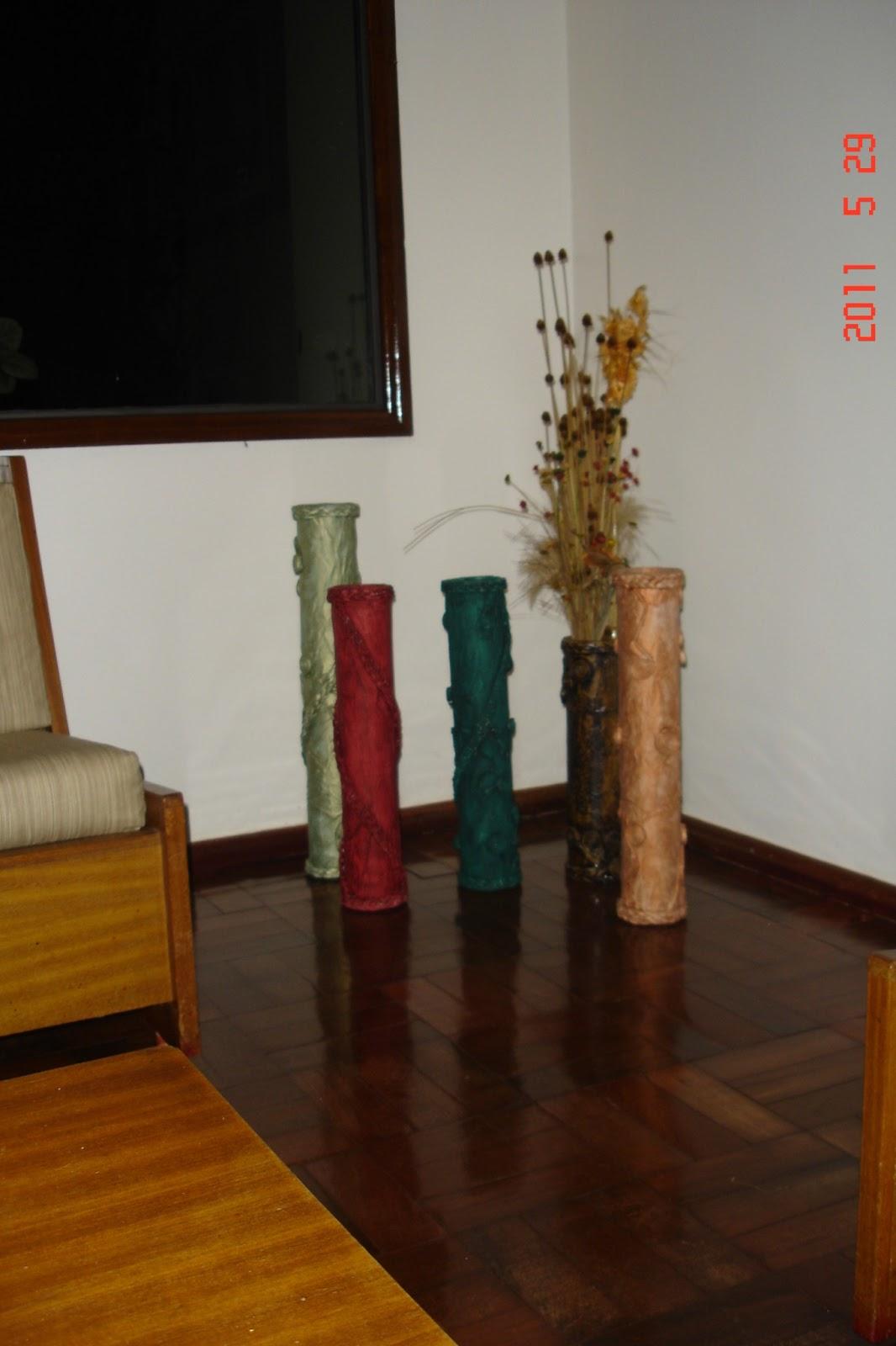 Armario Escobero Ikea ~ ReSignificArt Artesanato Reciclável Vasos (Vasos de Papel u00e3o e Jor