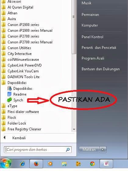Jika data PD/PTK hilang di tabel utama