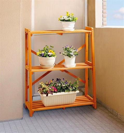 rak khusus untuk pot bunga dan pot tanaman hias