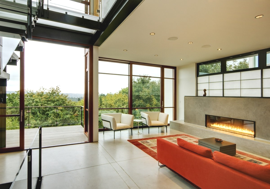 Narrow Lot House Designs On Contemporary Interior Designers Seattle