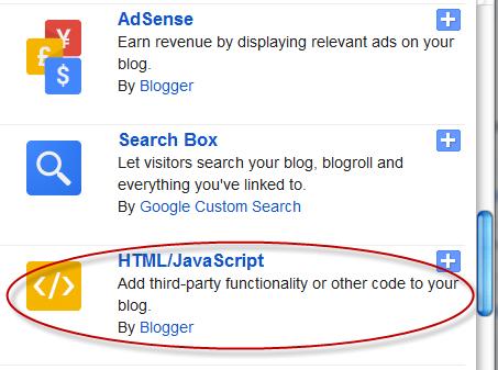 Blogger html script