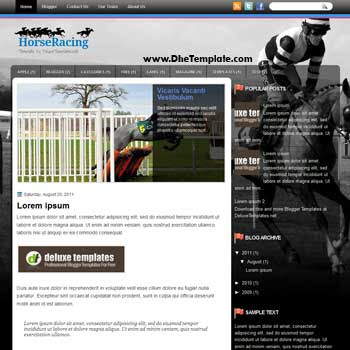 HorseRacing blogger template. template blogspot magazine style