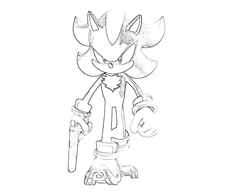 sonic coloring pages shadow - photo#32