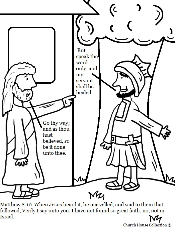 matthew 8 coloring pages - photo#23