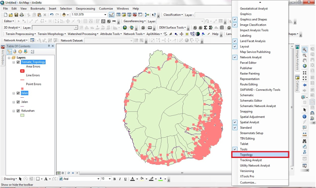 how to make topology arcgis