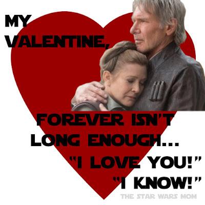 Han Solo and Leia Valentine Free Printable
