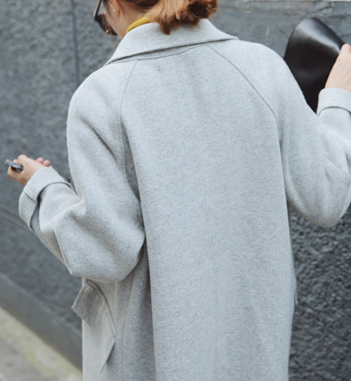 Wool Notched Collar Coat