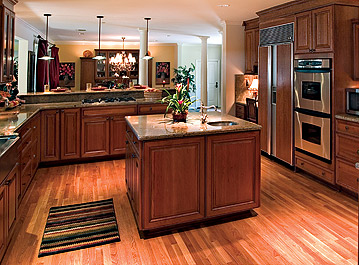 Kitchen on Furnitures Fashion  Wood Kitchen Flooring