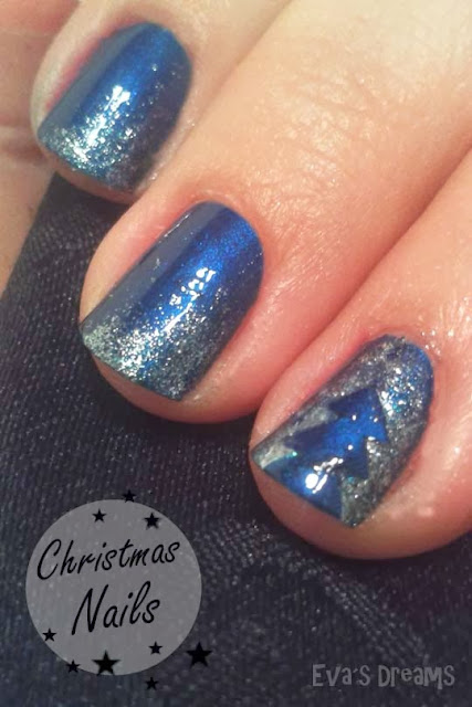Nails of the week: Nail art - christmas tree -2-