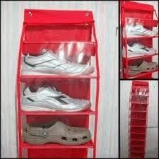 Jual murah rak sepatu gantung dengan resleting