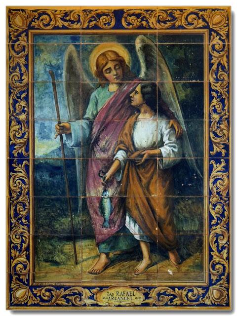 El Arcángel San Rafael y Tobías.