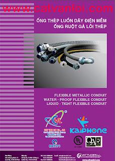 Ống thép luồn dây điện nhúng nóng trơn EMT(In-line hot dip galvanized) SMARTUBE/CATVANLOI/Panasonic tiêu chuẩn Mỹ -ANSI C80.3/UL797-EMT steel conduit (Electrical Metallic Tubing) ; Ống luồn dây điện ren 2 đầu IMC tiêu chuẩn Mỹ (In-line hot dip galvanized)-ANSI C80.6/UL1242- IMC steel conduit (Intermediate Metal Conduit); Ống luồn dây điện tiêu chuẩn Mỹ ANSI C80.1/UL6- Rigid Steel Conduit (RSC); Ống luồn dây điện tiêu chuẩn Anh BS4568 Class 3-BS4568 Class 3 White steel conduit; Ống thép luồn dây điện tiêu chuẩn Nhật Loại JIS C8305 Type E- JIS C 8305 Type E–White steel conduit; Phụ kiện ống luồn dây điện EMT / IMC/ BS4568/ JIS C8305- GI steel Conduit Accessories/ Steel conduit Fittings; Hộp thép âm tường đấu dây điện/ Electrical Steel box- Concrete box- Switch steel box – Electrical Junction box; Hộp nối ống luồn dây/ Conduit Outlet box- Rigid conduit body- Besa box; Ống thép luồn dây điện mềm có bọc nhựa KAIPHONE-Taiwan/CATVANLOI.VN -Water-proof Flexible Metallic Conduit (W.P FMC); Ống thép luồn dây điện mềm không bọc nhựa- Flexible Metallic Conduit (FMC); Ống thép luồn dây điện mềm có bọc nhựa dày- Liquidtight Flexible Metal Conduit (LFMC); Phụ kiện nối ống thép luồn dây điện mềm -Flexible Conduit Connectors
