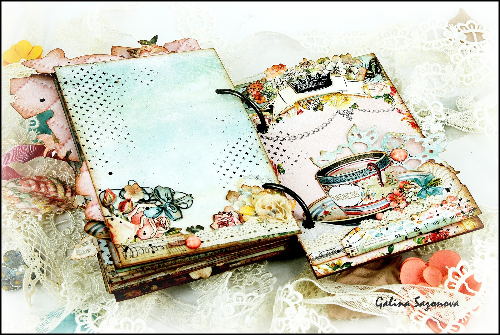 Бумажные розочки для скрапбукинга 60