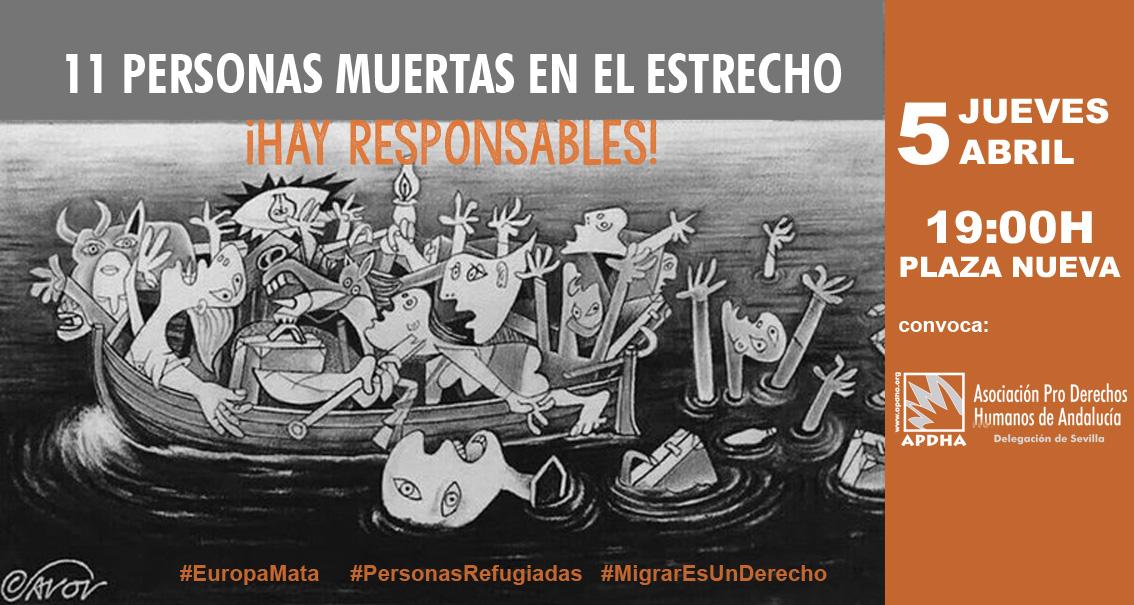 CONCENTRACIÓN: 11 PERSONAS MUERTAS EN EL ESTRECHO. ¡HAY RESPONSABLES!