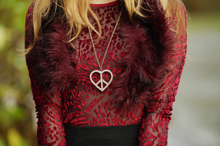 maroon sheer top, statement accessories, best outfits, scotland
