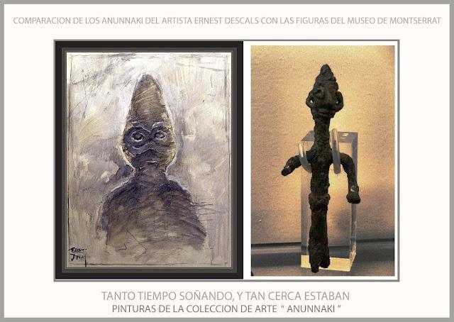 ANUNNAKI-ARTE-MUSEO-MONTSERRAT-ARTISTA-PINTOR-ERNEST DESCALS-PINTURA-DIOSES-SUMERIA-SUEÑOS-HISTORIA-