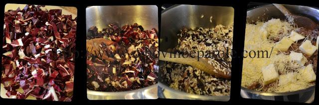 risotto al radicchio - preparazione -ingredienti
