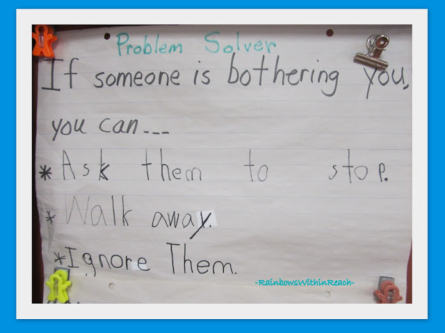 photo of: &quot;Problem Solver&quot; Suggestions for when someone is Bothering You Bulletin Board