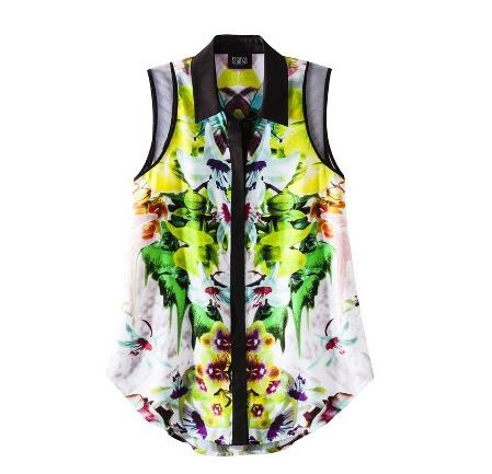 Prabal Gurung for Target top in first date print, Spring time print top