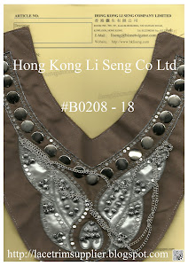 Beaded and Sequins Applique Wholesaler - Hong Kong Li Seng Co Ltd