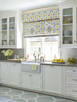 window treatments Roman shade valance
