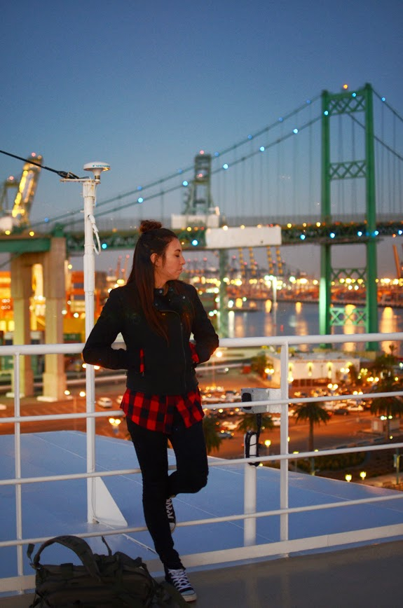 ootd, wiw, outfit of the day, converse, forever 21, mindy mae market, princess cruise, cruise, LA, california, bridge, sunset