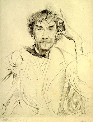 James McNeill Whistler by Paul César Helleu