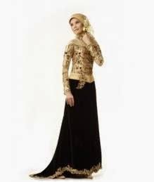 Desain baju muslim kebaya modern simple namun elegan