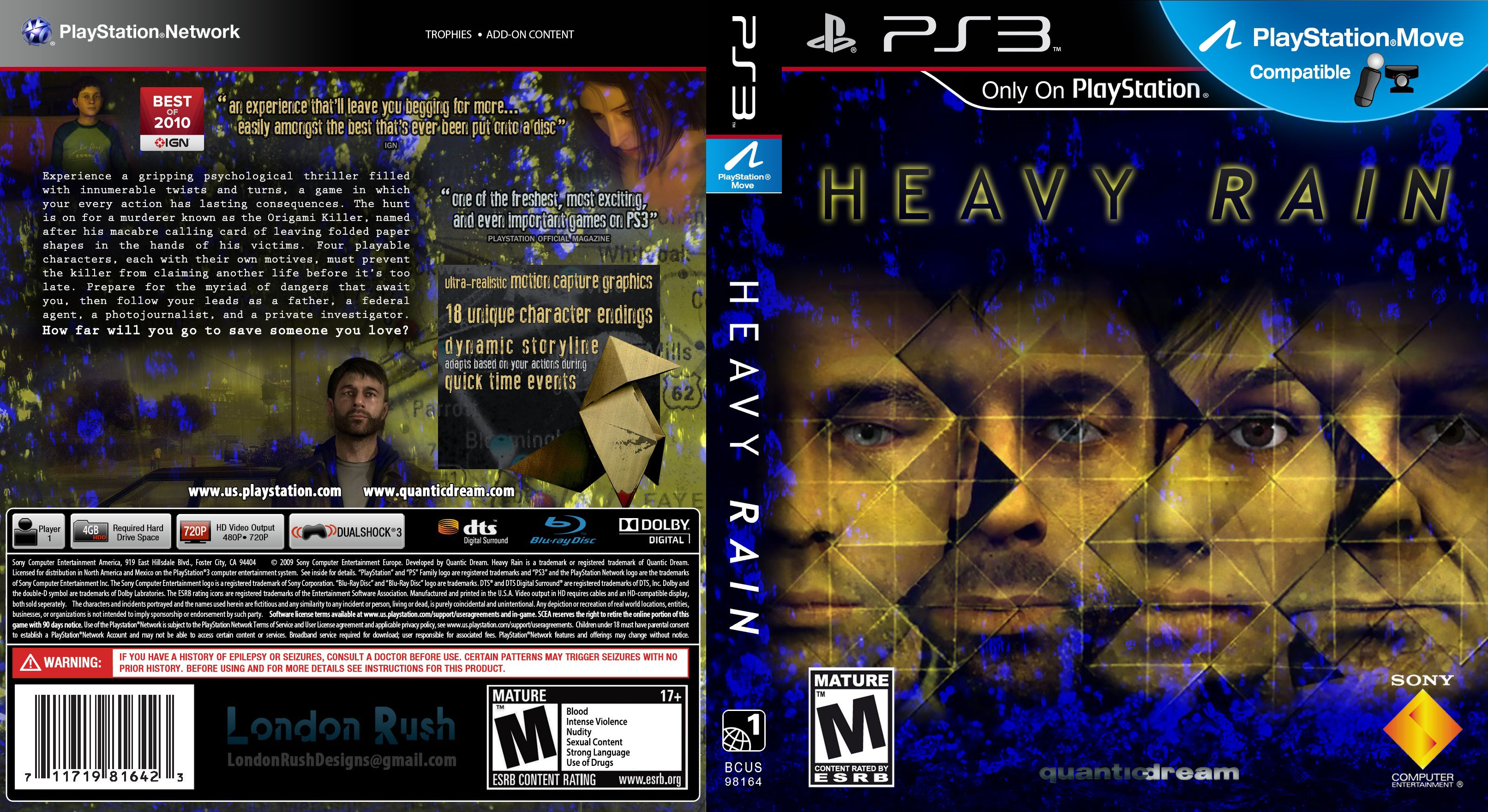 Capa Heavy Rain PS3