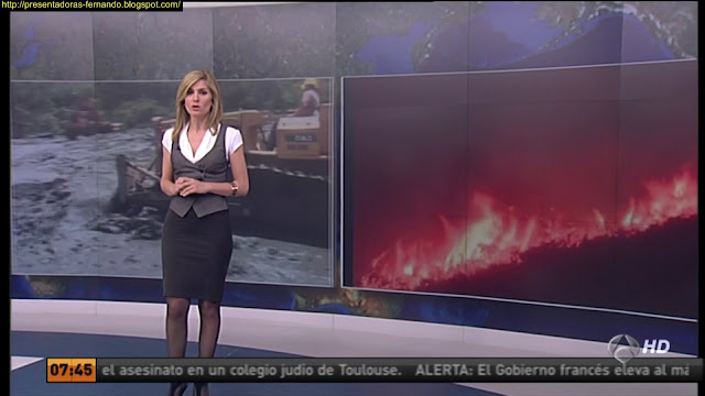 Sandra Golpe  medias negras