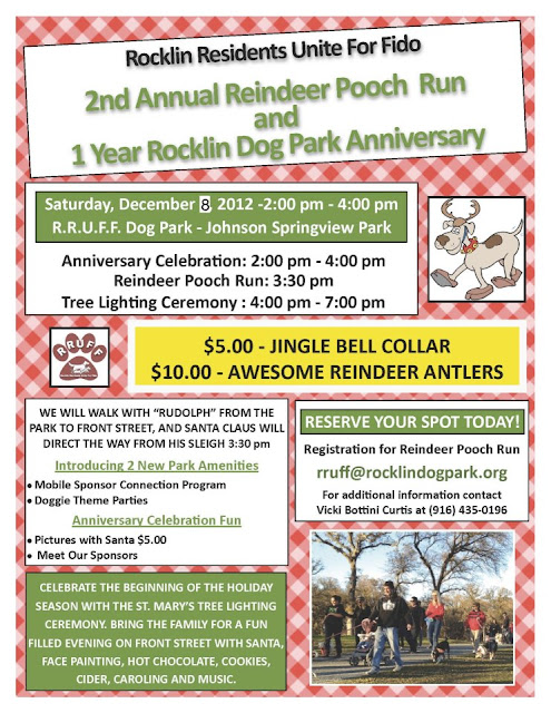 R.R.U.F.F. Reindeer Pooch Run on Dec. 8