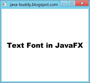 Set font in JavaFX