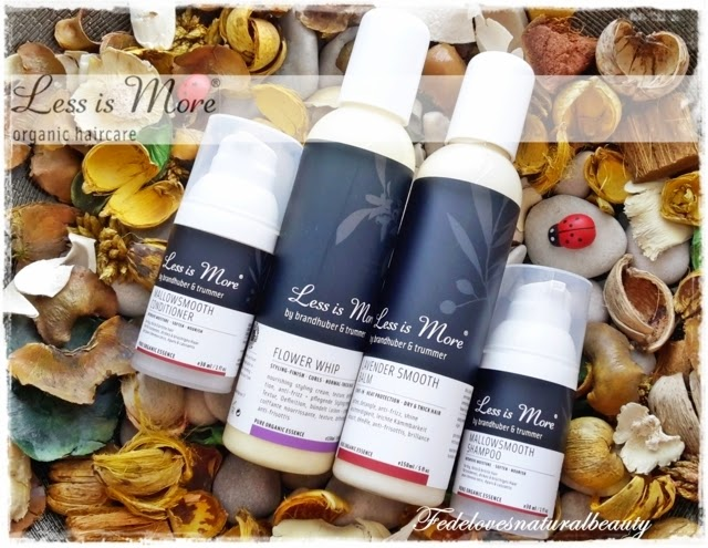 Less is more: Flower whip, Lavender smooth balm, mallowsmooth shampoo, mallowsmooth conditioner