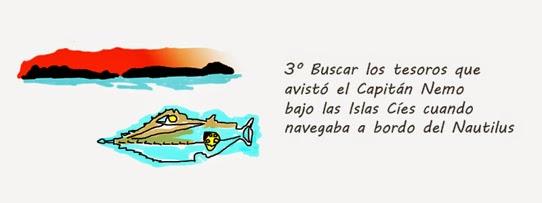 Buscar los tesoros que avistó el Capitán Nemo bajo las Islas Cíes cuando navegaba a bordo del Nautilus