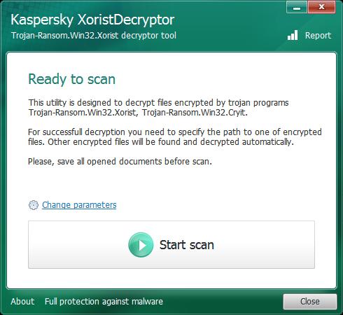 XoristDecryptor فيروسات التروجان,بوابة 2013 kasperskyxoristdecry