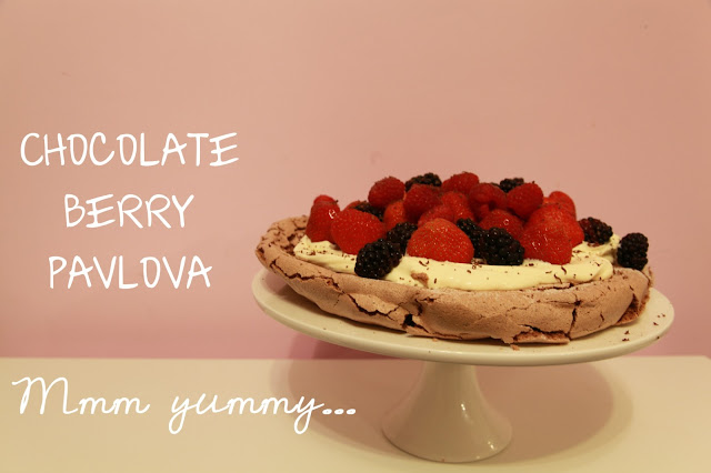 Chocolate Berry Pavlova
