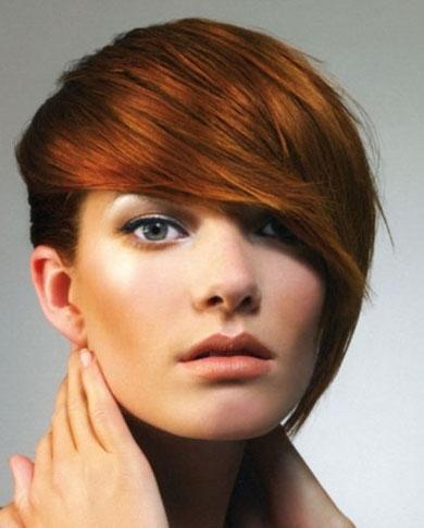 Long Bangs Red Hair Style 2014
