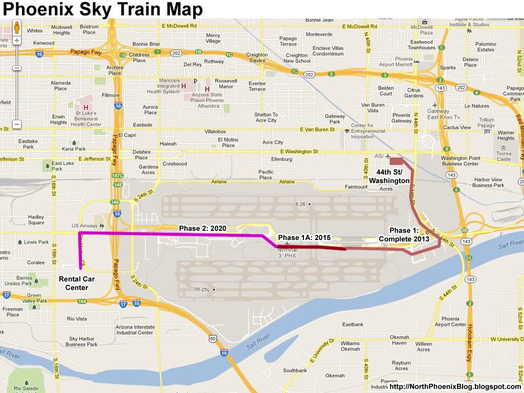 Nice Car Rental Phoenix Airport 7 Phoenix Sky Train Map