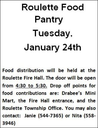 1-24 Roulette Food Pantry