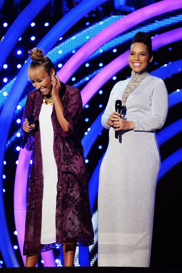 Emeli Sande and Alicia Keys at EMA