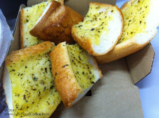 Garlic bread from pastamania Singapore