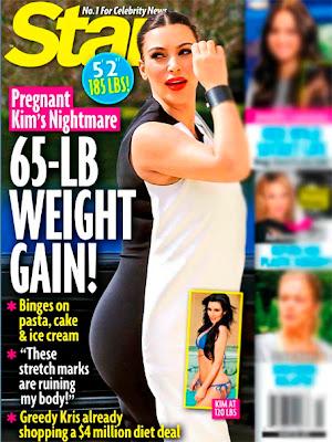 kim kardashian embarazada y gorda