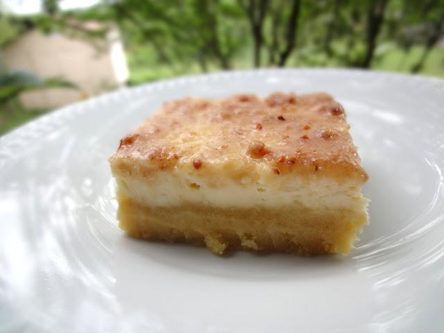 Blog as you Bake: Creme Brulee Cheesecake Bars