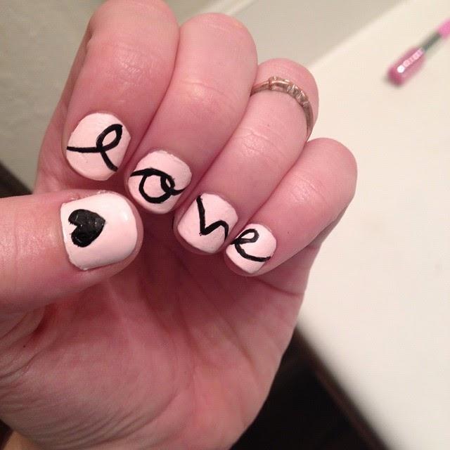 idee nail art facili san valentino