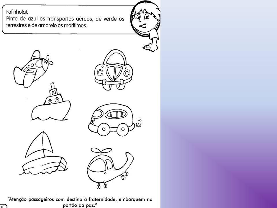 Conhecido Educação Infantil: Primeiros Passos: Projeto meios de Transporte  HI47
