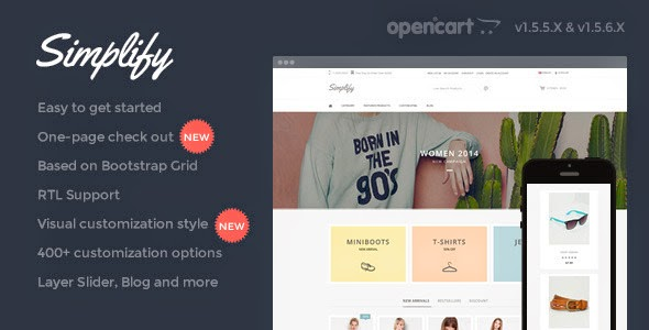 free opencart template